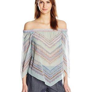 BCBG Maxazria | Octavia Off The Shoulder Silk Top